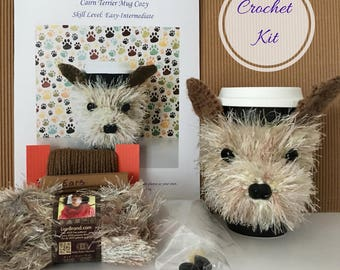 Crocheter Gift, Crochet Kit, Amigurumi Kit, Crochet Pattern Dog, Crocheting Gift, Crochet Gifts, Crochet Dog Pattern, Dog Crochet Pattern