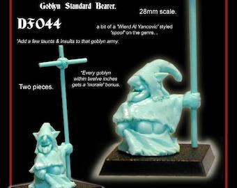 28mm Scale, Night Goblin Standard Bearer mooning you! Warhammer. Tabletop Gaming. Dungeons & Dragons. Pathfinder. RPG