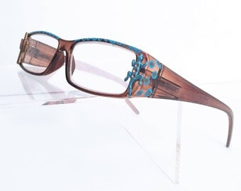 Reading Glasses Southwestern, Reader Glasses with Lizard and Cactus +2.25