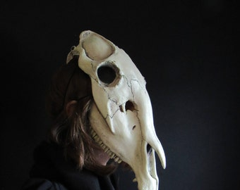 Horse skull mask shaman animal cosplay accessories