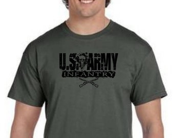 US Army Infantry, Short and Long Sleeve Shirts, Free Shipping in the United States