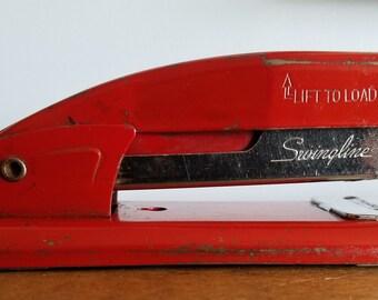 vintage red stapler