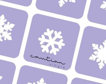 Snowflake Nail Vinyls - Nail Stencil for Nail Art