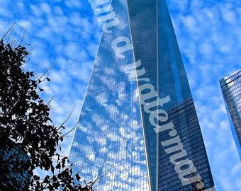 One World Trade Center against sky Digital file