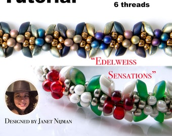 Kumihimo pattern tutorial 6 threads  Edelweiss Sensations Christmas bracelet Kumihimo Style