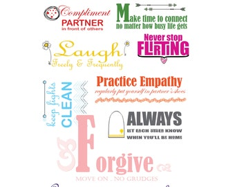 Poster: 9 habits for healthy relationship