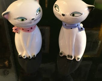 1950s - Mid Cent Japanese Kitty Salt & Peppers