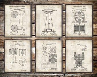 Dna rna printnucleotidesvintage science posterscience tesla patent set of 6 tesla print tesla posterpatent print nikola malvernweather Image collections