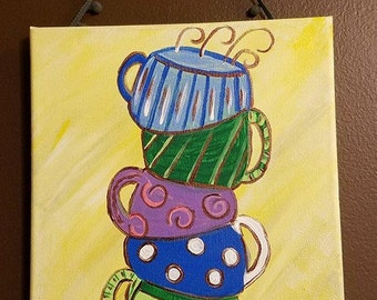Coffee Cups Canvas