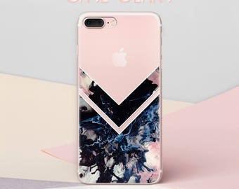 Dark Marble iPhone 7 Case Transparent iPhone 6 Case iPhone 8 Case iPhone 8 Plus Case iPhone X Case Galaxy S8 Case iPhone 7 Plus Case CG1636