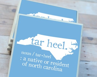North Carolina Gift / North Carolina Decor / Tar Heel / North Carolina Coasters / Carolina Gift / North Carolina / Chapel Hill / Coasters