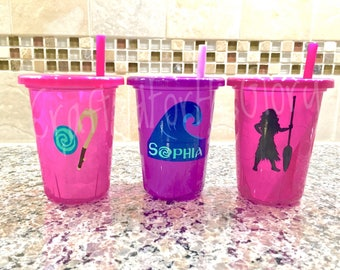 Moana Party Favors Personalized Cups - Set of 3