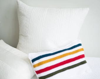 Small Hudson Bay Inspired Pillow