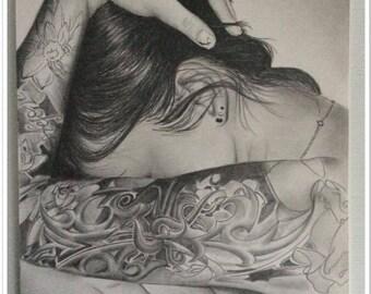 The soul deep graphite pencil portrait