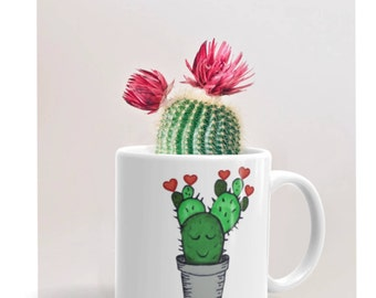 Mothers day mug, mothers day coffee mugs, cactus mug, mothers day cup, quote coffee mugs, cactus quotes, quote cup, free hugs, cactus gift