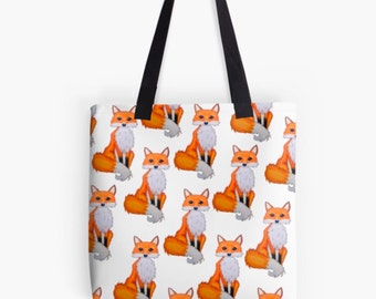 Woodland bag, woodland fox, fox bag, woodland gift bag, fox lover gift, fox gift bag, tote bag for women, women tote bag, women gift bag,