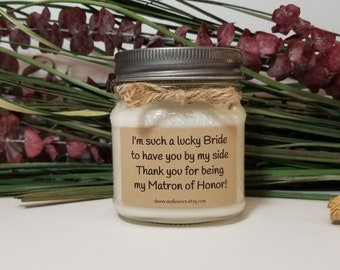 8oz Personalized Matron of Honor Gift - Bridesmaid Proposal - Bridal Party Gifts - Maid of Honor - Matron of Honor Thank You Gift