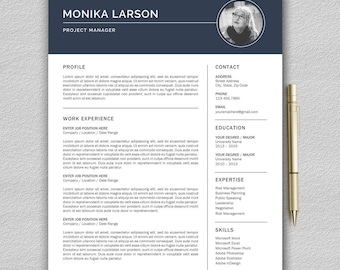 Resume Template / CV Template for Word + Cover Letter | Modern Resume Template | Professional Resume Template  | One Page Resume | Resume
