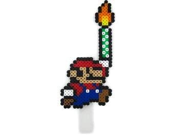 Mario Inspired Cake Topper   Video Game   Perler Beads