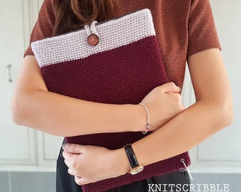 Handmade Crochet Laptop Sleeve, Made to Order and Fully Customizable