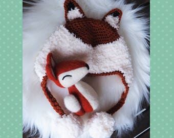 outfit photography-photo newborn set-props newborn crochet-animal felted-wool hat-fox hat set-READY TO SHIP-white red hat fox-prop photo