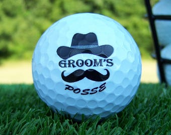 Groomsmen Gift Personalized Custom Wedding Golf Ball Personalized Set of 3, FAST SHIPPING!!