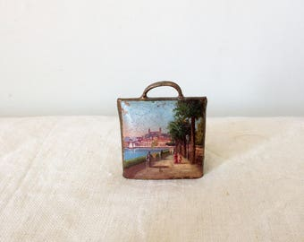 Vintage Cowbell - Hand-painted Bell - Bell Collectible - Souvenir from Cannes - French Bell - French Riviera Souvenir - Painted Bell