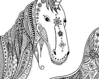 Unicorn: Doodle Art