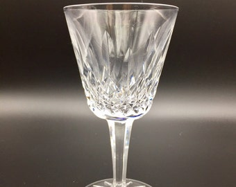Waterford Crystal Wine Glasses, Lismore White Wine Glasses, 4 w/ ORIGINAL STICKERS. Waterford's top design for 60 years. A Replacement!