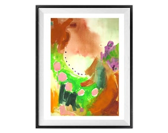 Original Painting Abstract Illustration Original Abstract Painting Watercolor Painting Structural ZippartCo, 19x15 in