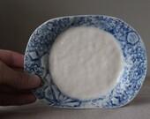 Porcelain Trinket Dish / Butter Dish / Cake Dish / Side Dish / Jewellery Dish / Textured Dish / Foodsafe