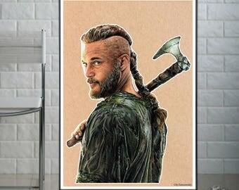"Ragnar Lothbrok ""Vikings"" - Fine Art Print - A4/A3"