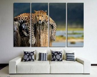Leopard canvas Leopard print Leopard photo Leopard poster Leopard wall art Leopard wall decor Leopard Wall Art Leopard Large Canvas Animal