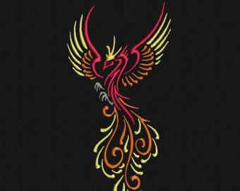 Tribal Phoenix x4 sizes  Machine Embroidery