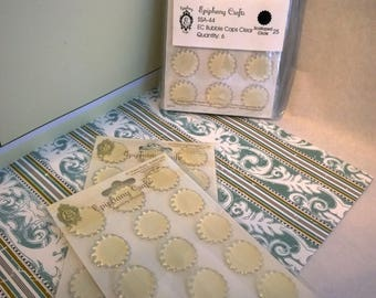 Bubble Caps Clear Scallop Circle 25 Epiphany Crafts embellishments paper craft supplies sets multiples