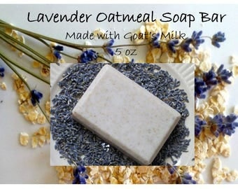 Lavender Oatmeal and Goat's Milk Soap Bar 5 oz