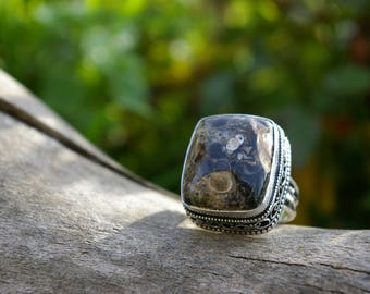 Ring agate turitelle size 58 or 8 US