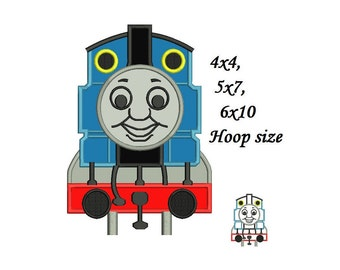 Thomas The Train Applique Design - 4,5,6 inch size instant download