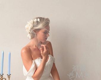 Vintage Ivory Wedding Fascinator