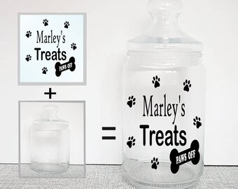 Treat jar label, vinyl decal, personalised treat jar, pet treats, pet storage, pet treats, dog treats, pet gifts, treat storage