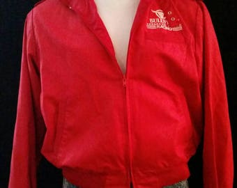 Vintage Red Bomber jacket. LARGE