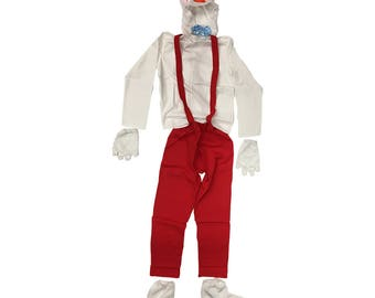 Roger Rabbit Costume Who Framed Roger Rabbit Movie Cosplay Suspenders Bow Tie Pants Gloves Fancy Dress Halloween Gift Full Complete Quality