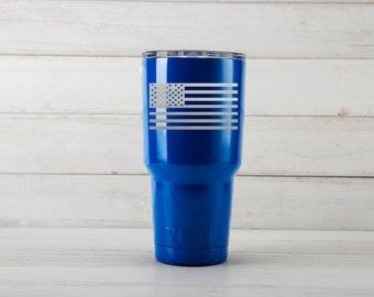 Yeti Tumblers Engraved With America Flag Personalized Yeti Tumblers 20 oz America Flag Yeti Gift For Men America Flag Yeti Rambler 30 oz