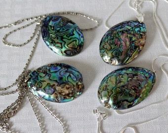 ABALONE SHELL JEWELRY, Abalone Shell Pendant, Made For Him, Her, Abalone Shell Necklace, Shell Necklace, Paula Shell,  Sea Shell Jewelry,