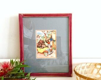 Vintage Noddy print framed