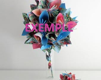 Origami tropical bouquet