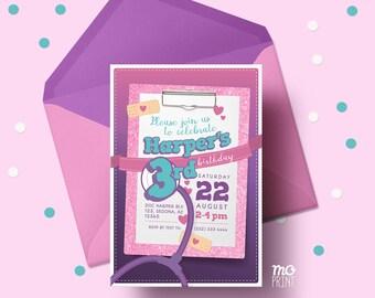 Doctor kids Birthday Invitation - Doctor invitation - 5x7 invite - printable digital file