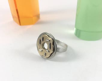 Donut Ring // Sterling Silver and Brass