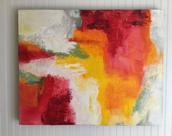 Original Abstract Art Painting Acrylic Contemporary Modern Art Colorful Textured Canvas Wall Art by Linda Haywood