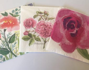 Decoupage Napkins ___ Set of 4 loose napkins